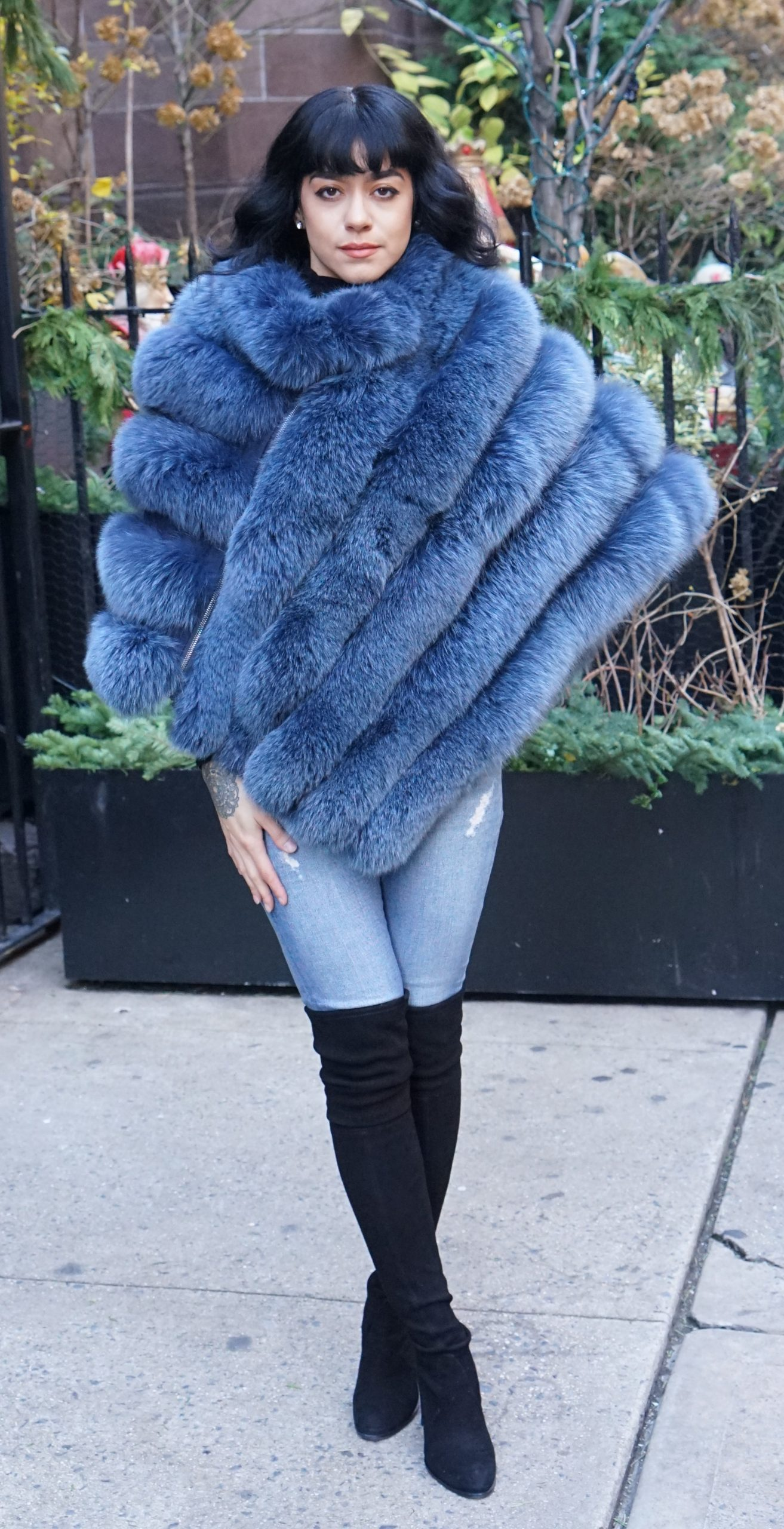 Blue Fox Poncho