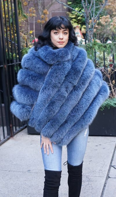 Blue Fox Poncho