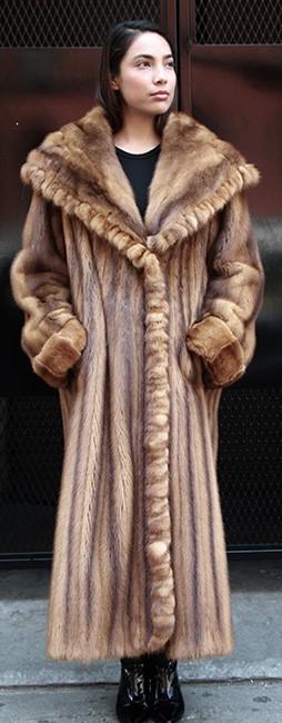 Whiskey Mink Coat Size