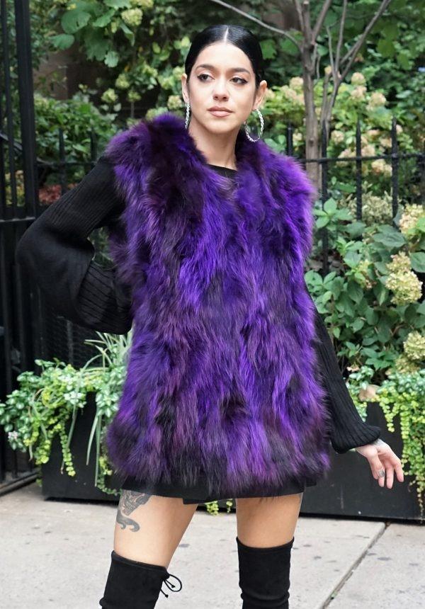 Purple Raccoon Vest