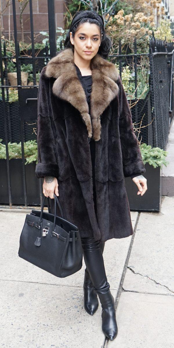 Brown Sheared Mink Russian Sable Collar