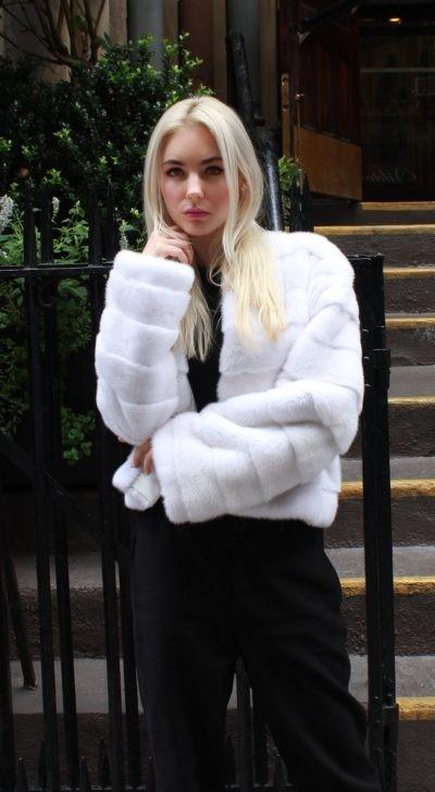 White Mink Jacket Horizontal Design