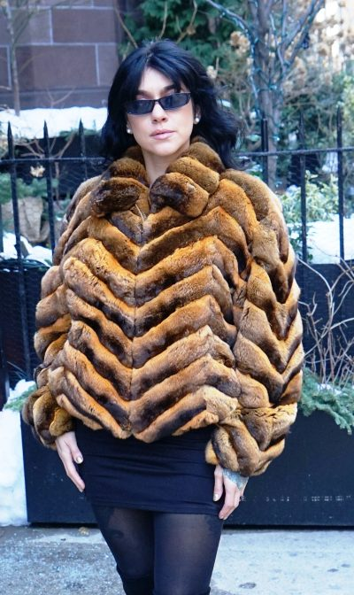 Real Whiskey Chinchilla Jacket