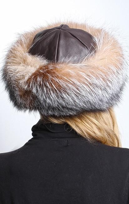 Crystal Fox Fur Hat 5212