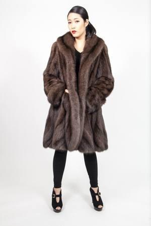 Russian Sable Princess Fur Swing Stroller Directional 256