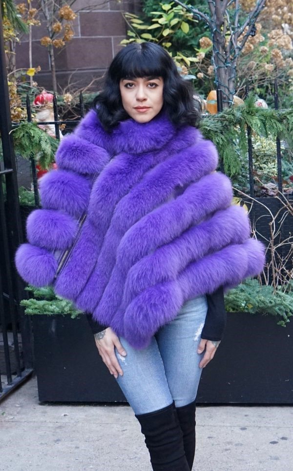 Purple Fox Poncho