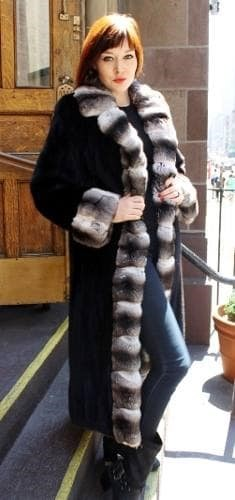 Blackglama Mink Coat Chinchilla Tuxedo Cuff