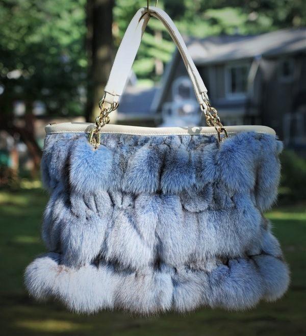 Powder Blue Fox Bag